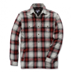 Hubbard sherpa shirt dark crimson