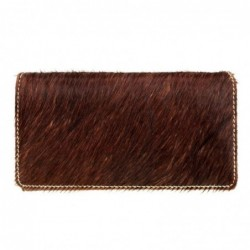 Trinity ranch cowhide wallet brown