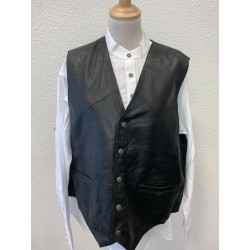 Mens EAGLE embossed black vest