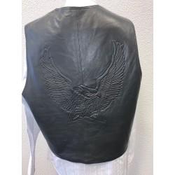 Mens EAGLE embossed black vest