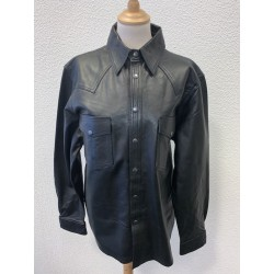 Black leather western style...