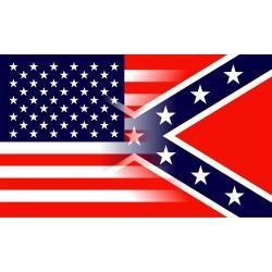 USA + Confederate flag