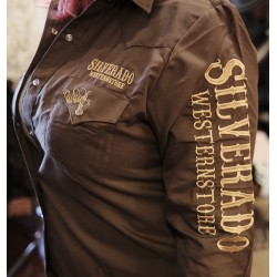 Silverado logo shirt Brown...