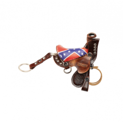 Saddle keyring rebel flag...