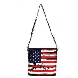 American flag crossbody back