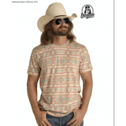 Mens western T shirt P9-8005