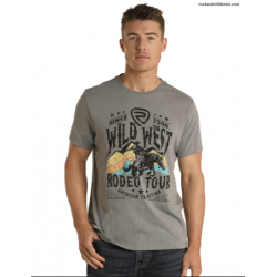 Mens western T shirt P9-7405