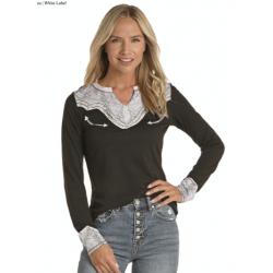 Ladies LS  t Shirt L8T8585