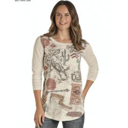 Ladies LS  t Shirt L8T8575