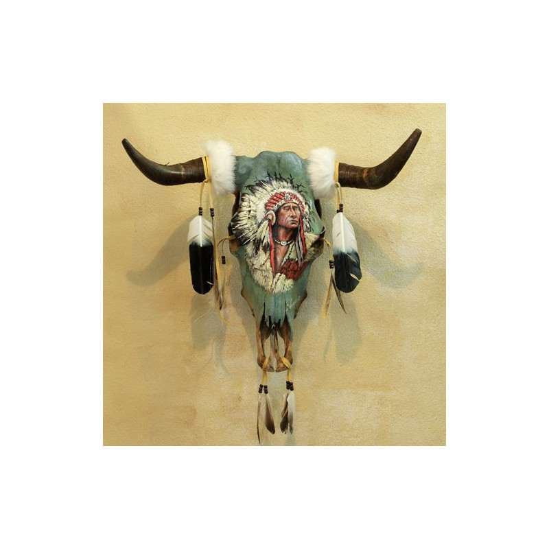 Texas panted Skull Indian