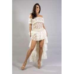 Gypsy top cream lace