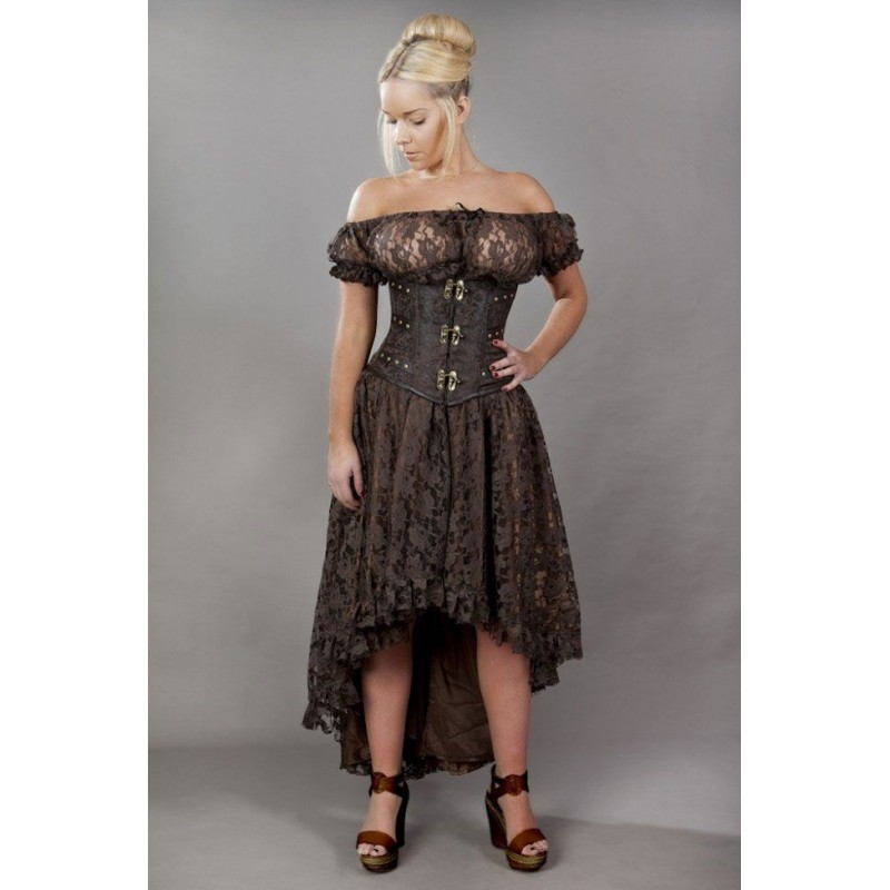 Elizium long brown skirt